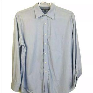 Tommy Hilfiger Blue Button Front Shirt 16.5